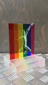 award gekleurd acrylaat