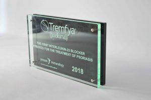 award acrylaat met tekst