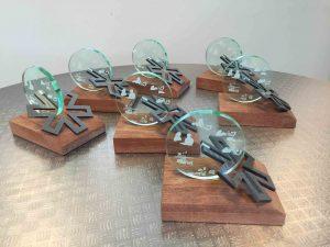 mooie houten award met plexiglas
