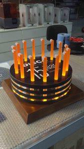 trofee in de vorm van een taart