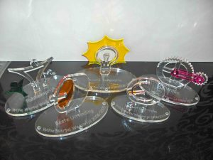 transparant plexiglas trofee