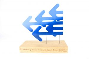 award logo hout gravure lasersnijden